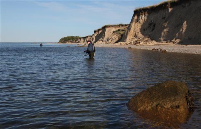 Die Landzunge am Sdr. Aby Strand.