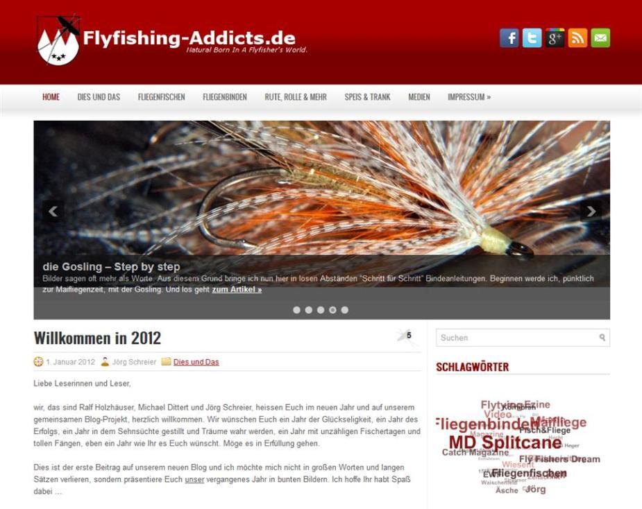 Die neue Seite von Ralf, Jörg und Michael: www.flyfishing-addicts.de