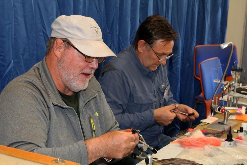 Hans van Klinken (links) ist eben so wie Peter Joest (rechts) ein regelmäßiger Gast bei Finest Fly Fishing.